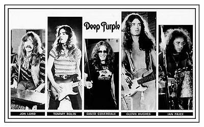 Deep Purple POSTER Come Taste the Band David Coverdale Tommy Bolin Glenn Hughes
