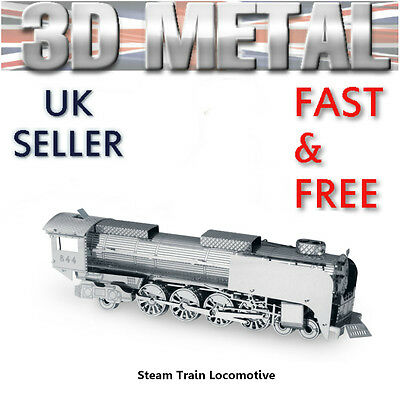3D Metal Steam Train Locomotive Puzzle Miniature Model Kit Gift For Dad