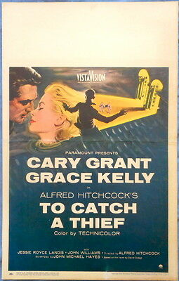 TO CATCH A THIEF MOVIE POSTER Cary Grant Grace Kelly Alfred Hitchcock 1954 Orig.