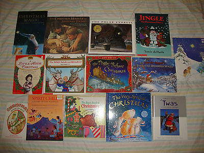 VARTIEY Lot of 14 CHILDREN'S CHRISTMAS THEMED PICTURE  Books