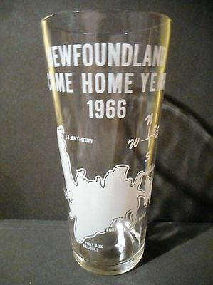 1966 Newfoundland Come Home Year Vintage Drink Glass