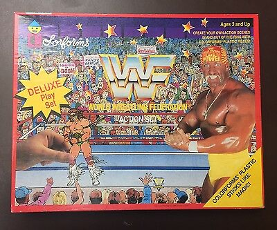 WWF World Wrestling Federation Deluxe Colorforms Play Set
