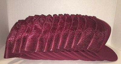 Lot of 12 -Snap Back Mesh Ball Caps w/ Braid - MAROON -POLYESTER Youth - Fit All
