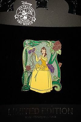 LE 125 Regal Princess Belle Beauty and The Beast Sparkle Dress Disney Store Pin