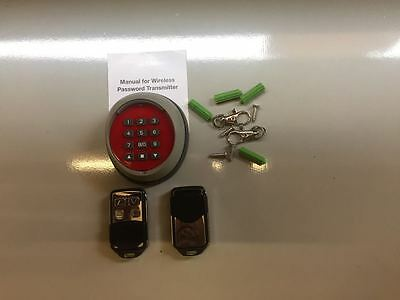Wireless door entry pad + 2 remotes - Learning code
