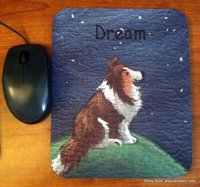 MOUSE PAD SHELTIE SHETLAND SHEEPDOG SABLE  DREAM BY  Amy Bolin