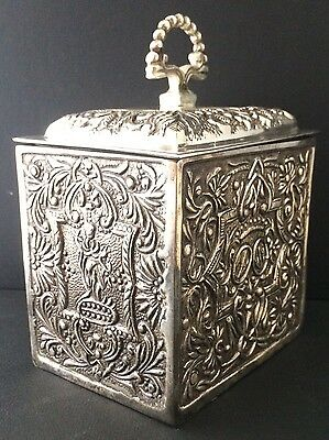 Indian Silver Embossed Box BEAUTIFUL