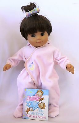 Retired 2003-2005 American Girl BITTY TWINS MOON & STARS Pink Meet Outfit & Book