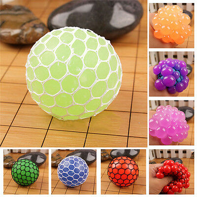 Anti Stress Face Reliever Grape Ball Autism Mood Squeeze For ADHD Adult Kids Toy