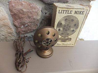 Vintage Schranz & Bieber Co Little Mike For Home Broadcasting To Radio With Box