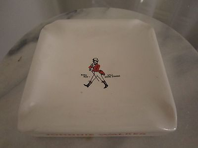 Vintage Johnnie Walker  Scotch Whisky Pub Advertising Ashtray