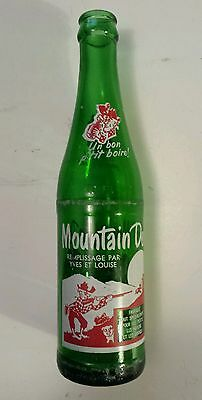 "Rare French-Canadian  ""mountain Dew"" 10 Oz ""remplissage Par Yves Et Louise"""