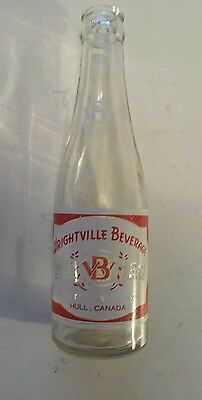 "Rare Canadian (Hull, Quebec) ""wrightville Beverage"" 7 Oz  Red/white Acl-Style #2"