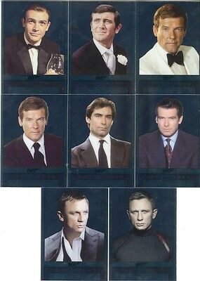 2017 James Bond Archives Final Edition 007 Double-Sided Mirror Card Set Of 8 NEW