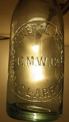 retro vintage embossed Clare SA mineral waters crown seal bottle