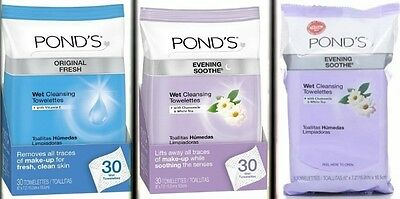 Pond's Original Fresh Wet Cleansing Towelettes, for Women 30 count vitamin / E.