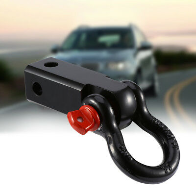 Solid Steel Tow Bar Hitch 4WD 4x4 Off Road Recovery 5Ton Bow Shackle Tool SGG AU