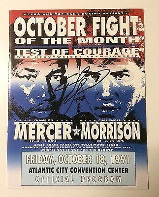 SIGNED Tommy Morrison vs Ray Mercer Boxing Programme WBO World Title Fight