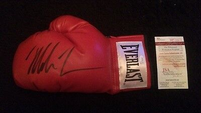 Mike Tyson Signed Autographed Red Everlast Boxing Glove (L/H #7) JSA COA
