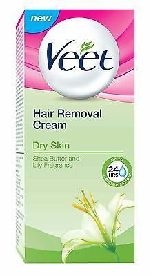 Veet Hair Removal Cream, Dry Skin - 25 gm + Free Shipping