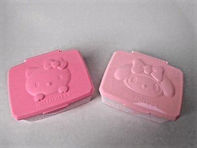 Hello Kitty and My Melody  Make-up remover cotton box Daiso Japan F/S
