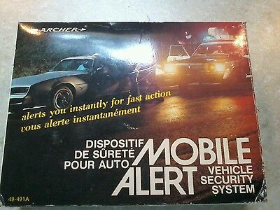 New Vintage In Box Archer Mobile Alert Vehicle Security System