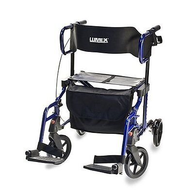GFHC-LX1000B-Lumex Hybrid Rollator Transport Chair