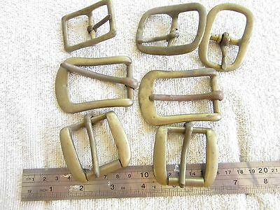 ***  Leathercraft - Harness. Saddlery -  Brass buckles - Assorted lot of 7