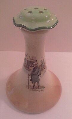 "Old, Rare Dickens Ware Hat Pin Holder, Stand ""Mr Micawber"" D2973 Royal Doulton"