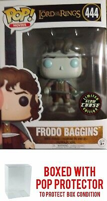 FRODO BAGGINS CHASE Funko Pop! LORD OF THE RINGS #444 IN STOCK w/ Protector