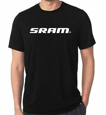 New Rare Sram logo Design Black T-Shirt Tees Size S-5XL