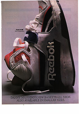 "1989 Reebok ""The Commitment"" Danny Manning Basketball Shoe Print Advertisement"