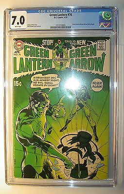 Green Lantern #76 CGC 7.0, FN/VF, 1970 DC comic, Neil Adams art begins, O'Neil