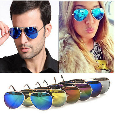 Aviator Sunglasses Unisex Fashion 80s Retro Designer Vintage Glasses Shades