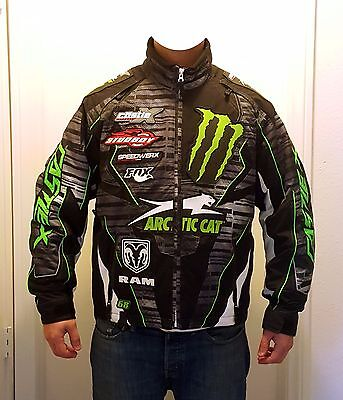 Monster Energy Tucker Hibbert Arctic Cat Castle-X *TEAM ONLY* custom jacket