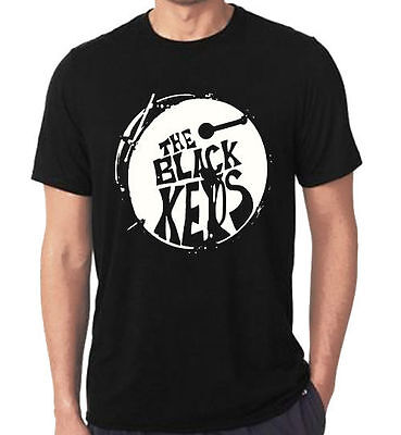 New Rare The black keys drum logo Tour Dates #887 T-Shirt Tees Size S-5XL