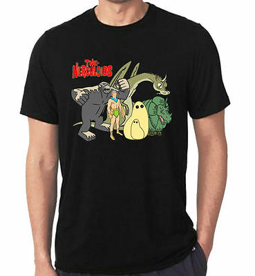 New Rare the herculoids cartoon anime Black T-Shirt Tees Size S-5XL