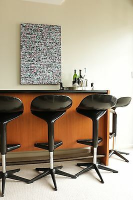 Mid Century Home Dry Bar + Kartell Stools x 5 - From Parker & Chiswell Era