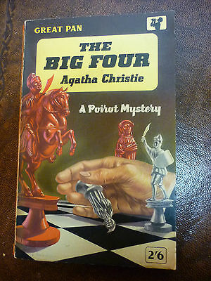 Agatha Christie THE BIG FOUR -  Paperback Novel Great Pan 1961
