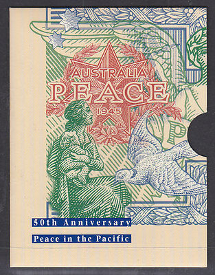 Australian Peace Pack 1945 Coin And Proof Set With The New Stamps.