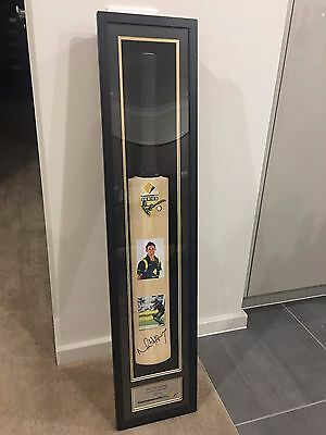 Framed And Signed Michael Hussey Cricket Bat In Frame 100% Authentic