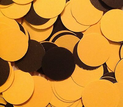 Black & Yellow Confetti 200+ Steelers Birthday Party Decororation Handmade New
