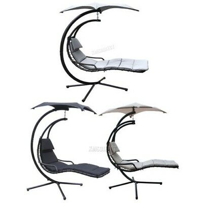 FoxHunter Garden Swing Hammock Helicopter Hanging Chair Seat Sun Lounger Outdoor