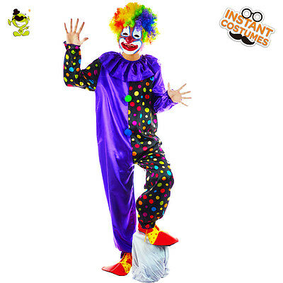 Circus Clown Costume Halloween Costume Naughty Harlequin Uniform Jumpsuit HC-703