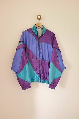 Vintage women's 80's/90's festival shell suit jacket L