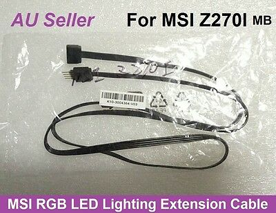 MSI RGB LED Lighting Extension Cable Cord K10-3004364-V03 4Pin 80cm