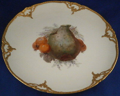 Great KPM Berlin Art Nouveau Porcelain Fruit Scene Plate Porzellan Teller German
