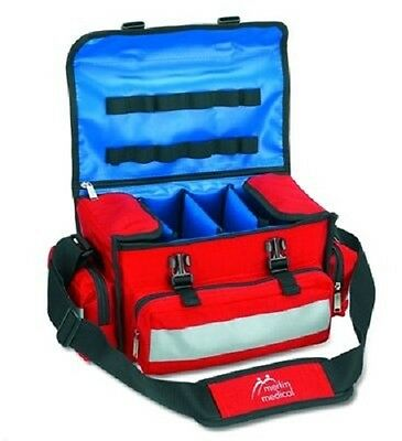 New Merlin Medical Red Emergency First Aid Bag Only - Empty Goodwin Bag -No Post