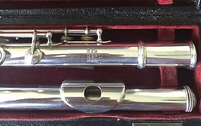 Beautiful Louis Lot Solid Silver Flute (A=442 - Not Retuned) - Open-Hole/c-Foot