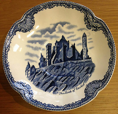 """JOHNSON BROS BROTHERS """"THE ROCK OF CASHEL"""" CHINA SAUCER Old Britain Castles Blue"""